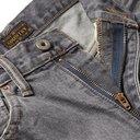 KAPITAL - Distressed Appliquéd Denim Shorts - Black