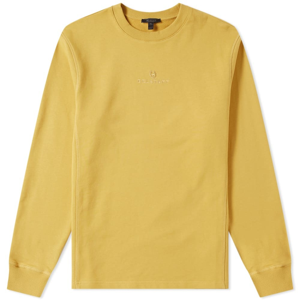 Photo: Belstaff Reydon Fleece Logo Sweat Cadium Yellow