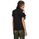 Sacai Black Asymmetric Ruffle T-Shirt