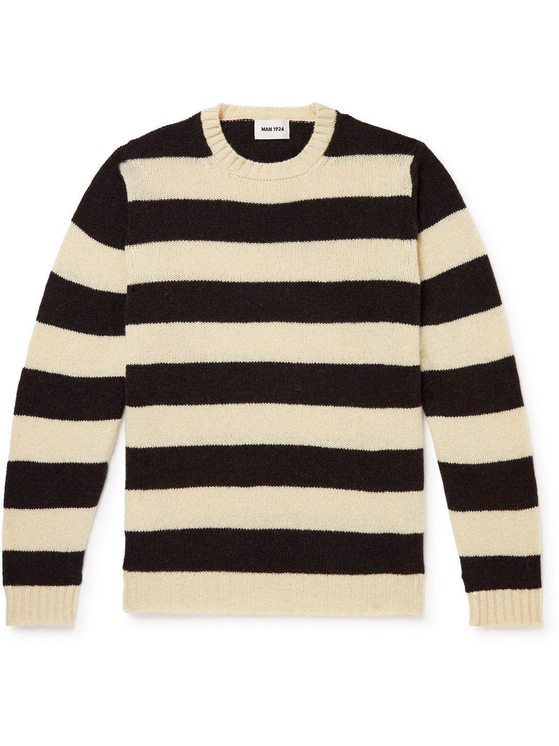 Photo: MAN 1924 - Striped Wool Sweater - Neutrals
