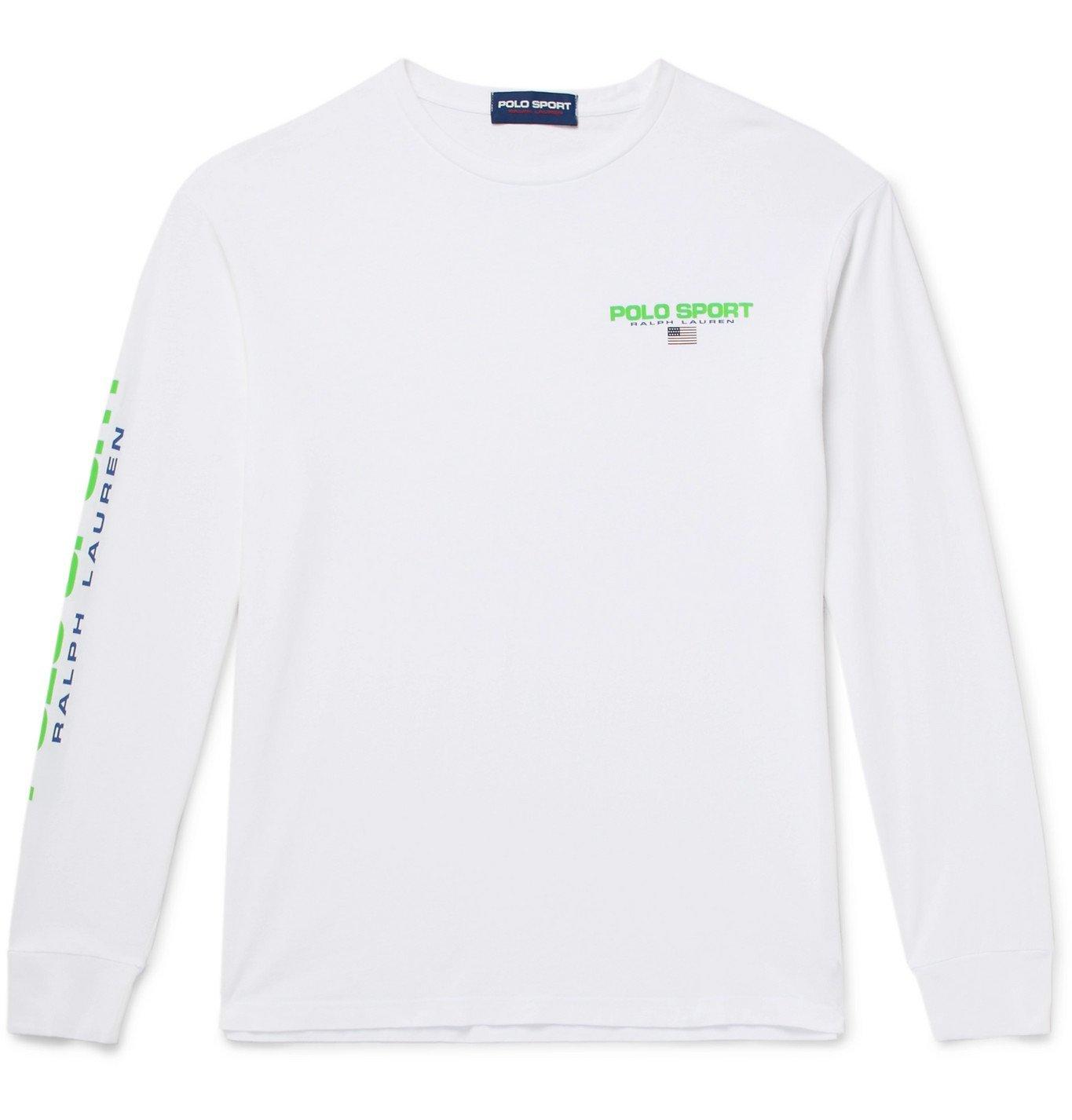 Photo: Polo Ralph Lauren - Logo-Print Cotton-Jersey T-Shirt - White