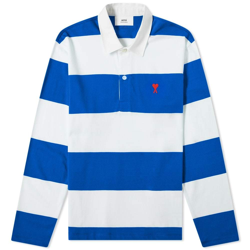 Photo: AMI Heart Striped Rugby Shirt