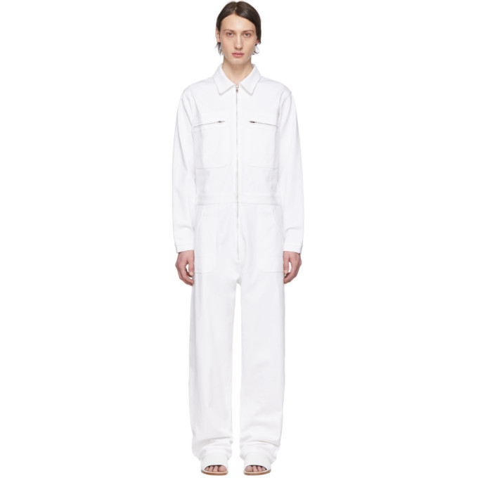 Photo: A-Plan-Application White Denim Jumpsuit