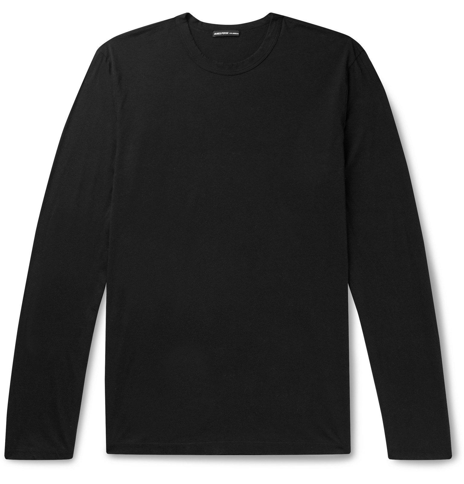 Photo: James Perse - Lotus Slim-Fit Cotton-Jersey T-Shirt - Black