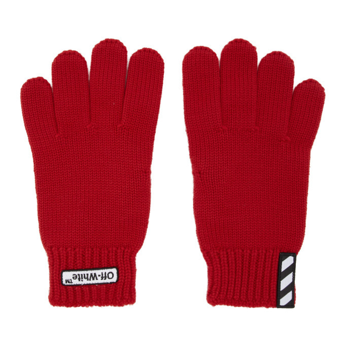Photo: Off-White Red Patch Gloves