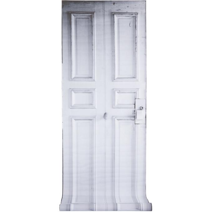 Photo: Maison Margiela SSENSE Exclusive Black and White Line 13 Trompe-loeil Wallpaper