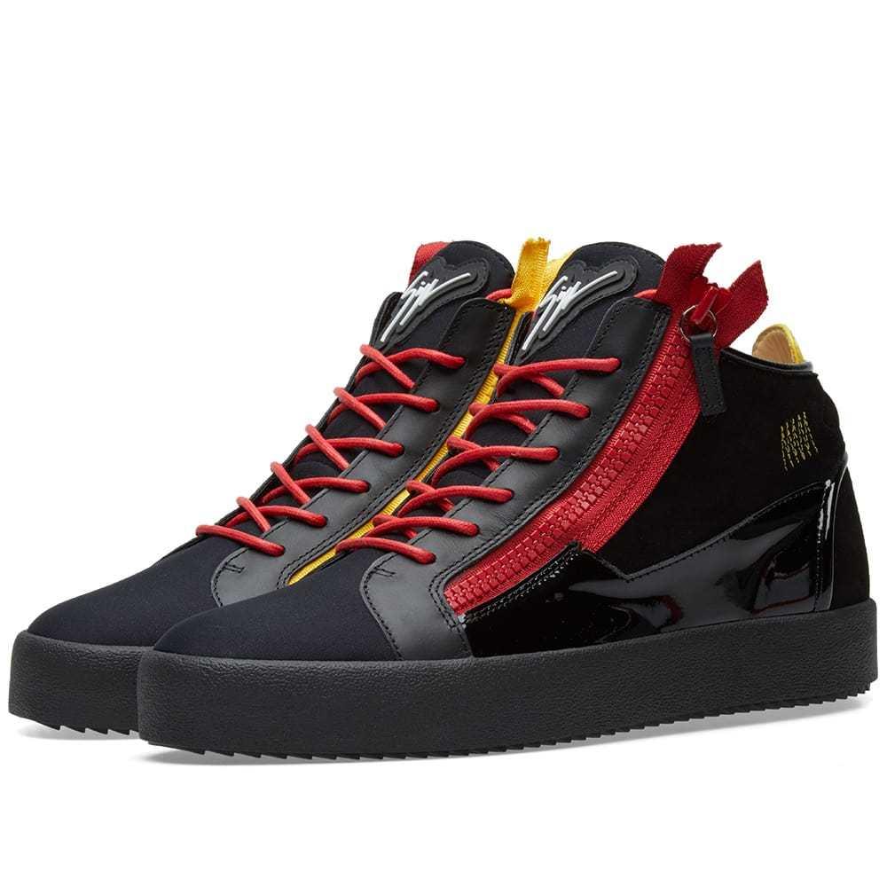 Photo: Giuseppe Zanotti Double Zip Deconstructed Mid Sneaker Black
