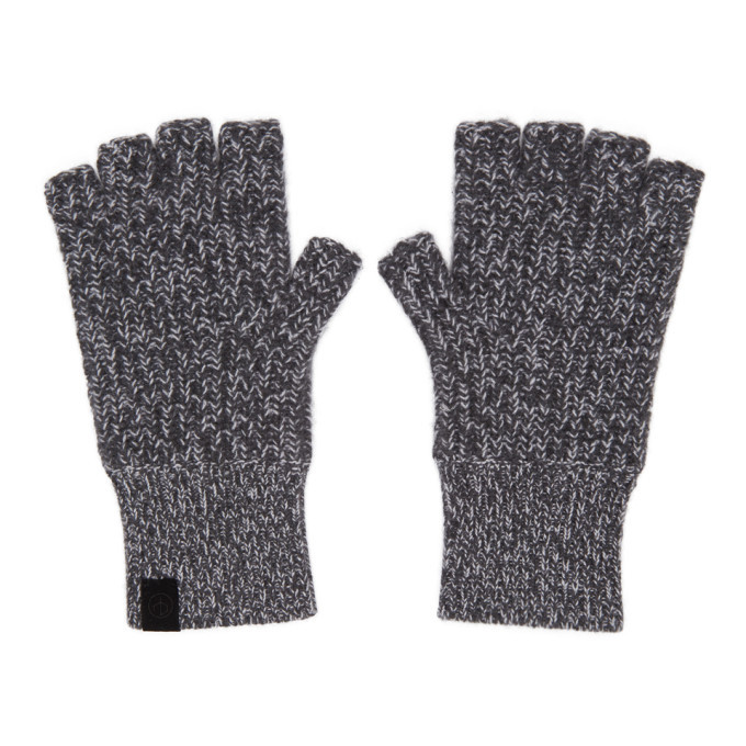 Photo: rag and bone Grey Cashmere Ace Mitts