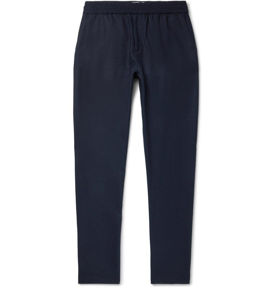 Sunspel - Ian Fleming Textured Tropical Wool Drawstring Trousers - Men - Navy