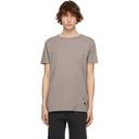 Ksubi Taupe Distressed Seeing Lines T-Shirt