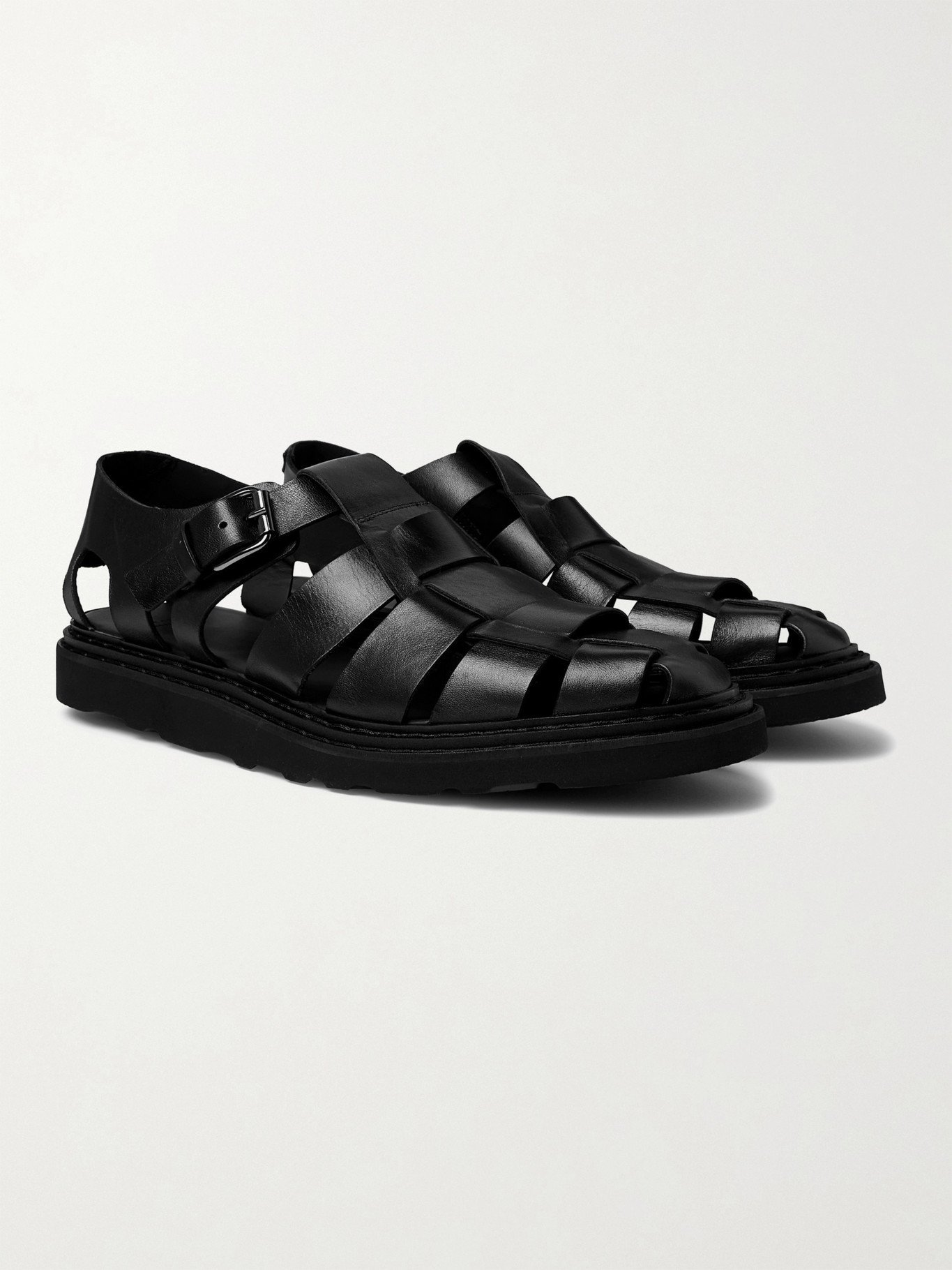 Photo: OFFICINE CREATIVE - Lyndon Leather Sandals - Black