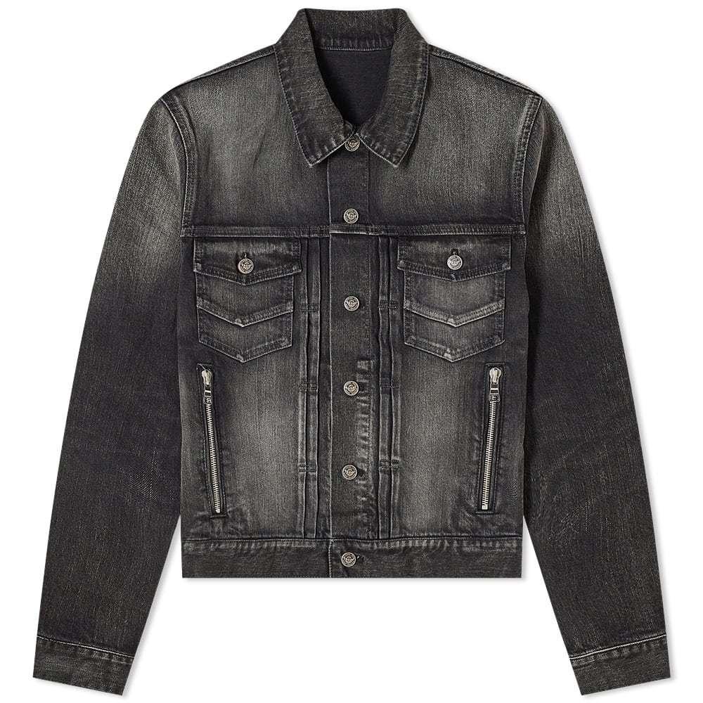 Photo: Balmain Selvedge Washed Denim Jacket