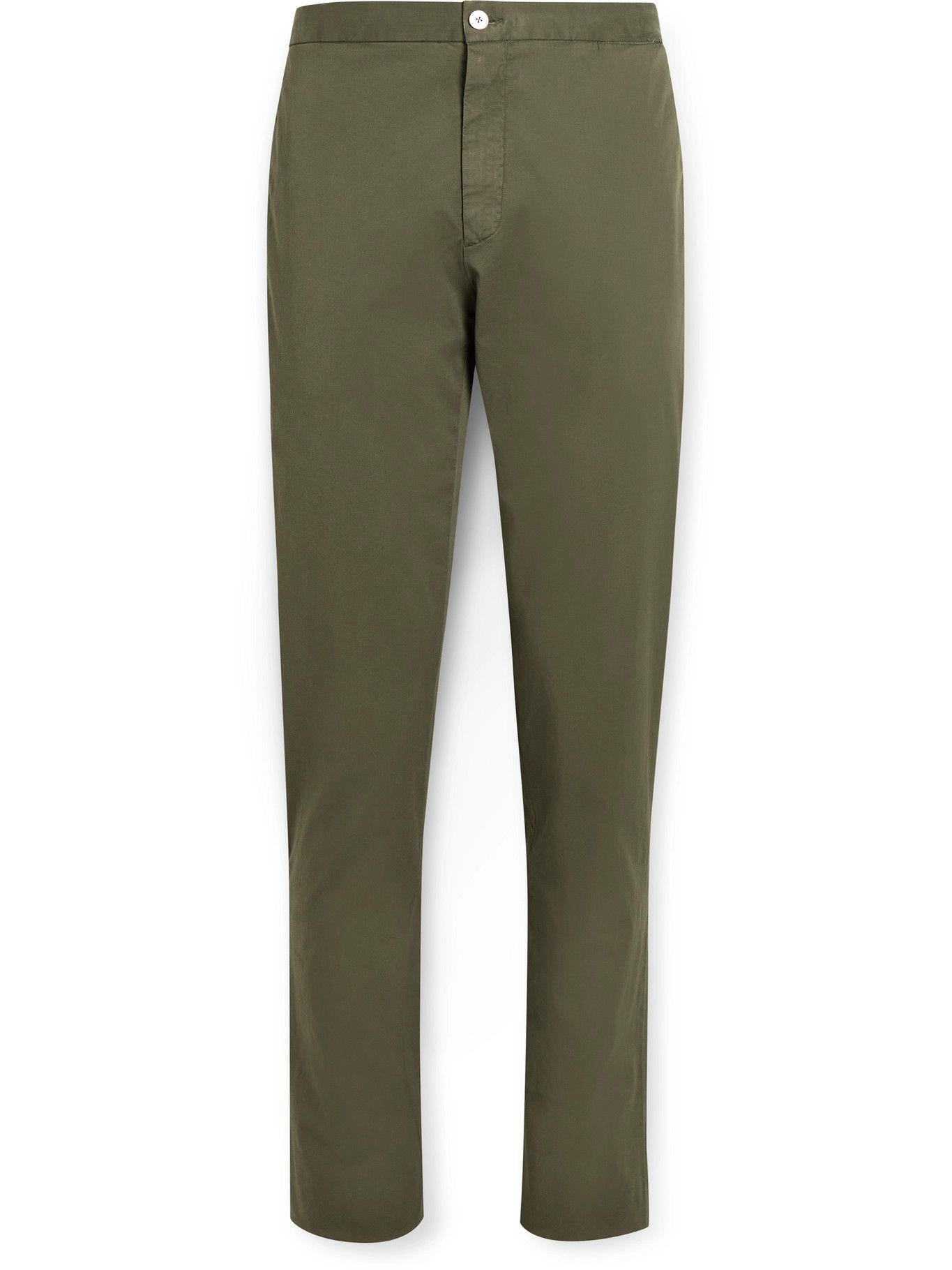 Photo: BOGLIOLI - Slim-Fit Garment-Dyed Stretch-Cotton Twill Suit Trousers - Green