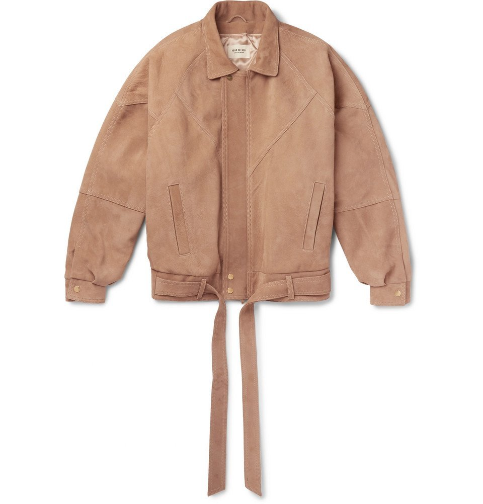 Photo: Fear of God - Panelled Nubuck Jacket - Brown