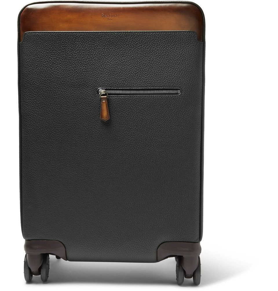 Photo: Berluti - Formula 1004 Full-Grain Leather Carry-On Suitcase - Men - Black