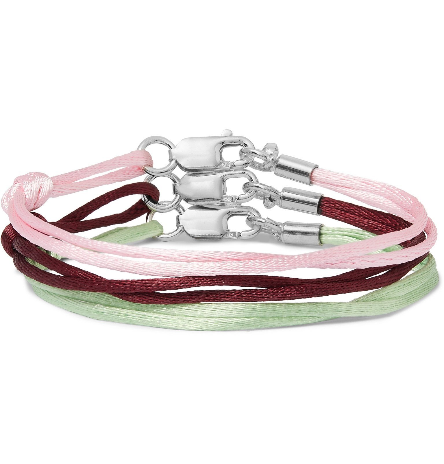 Photo: Rubinacci - Set of Three Silk Bracelets - Pink
