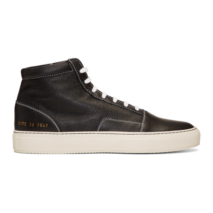 Common Projects Black Skate Mid Sneakers