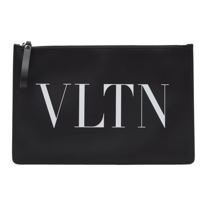 Photo: Valentino Black Valentino Garavani Large VLTN Pouch