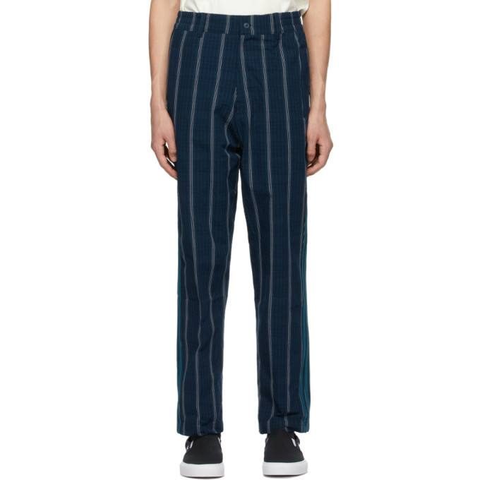Photo: adidas Originals Navy SPRT Seersucker MW Trousers