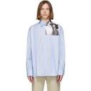 Raf Simons Blue Cropped Couple Shirt