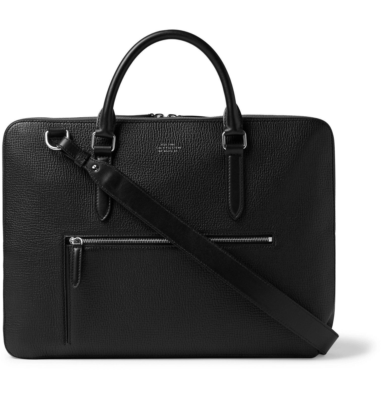 Smythson - Ludlow Full-Grain Leather Briefcase - Black