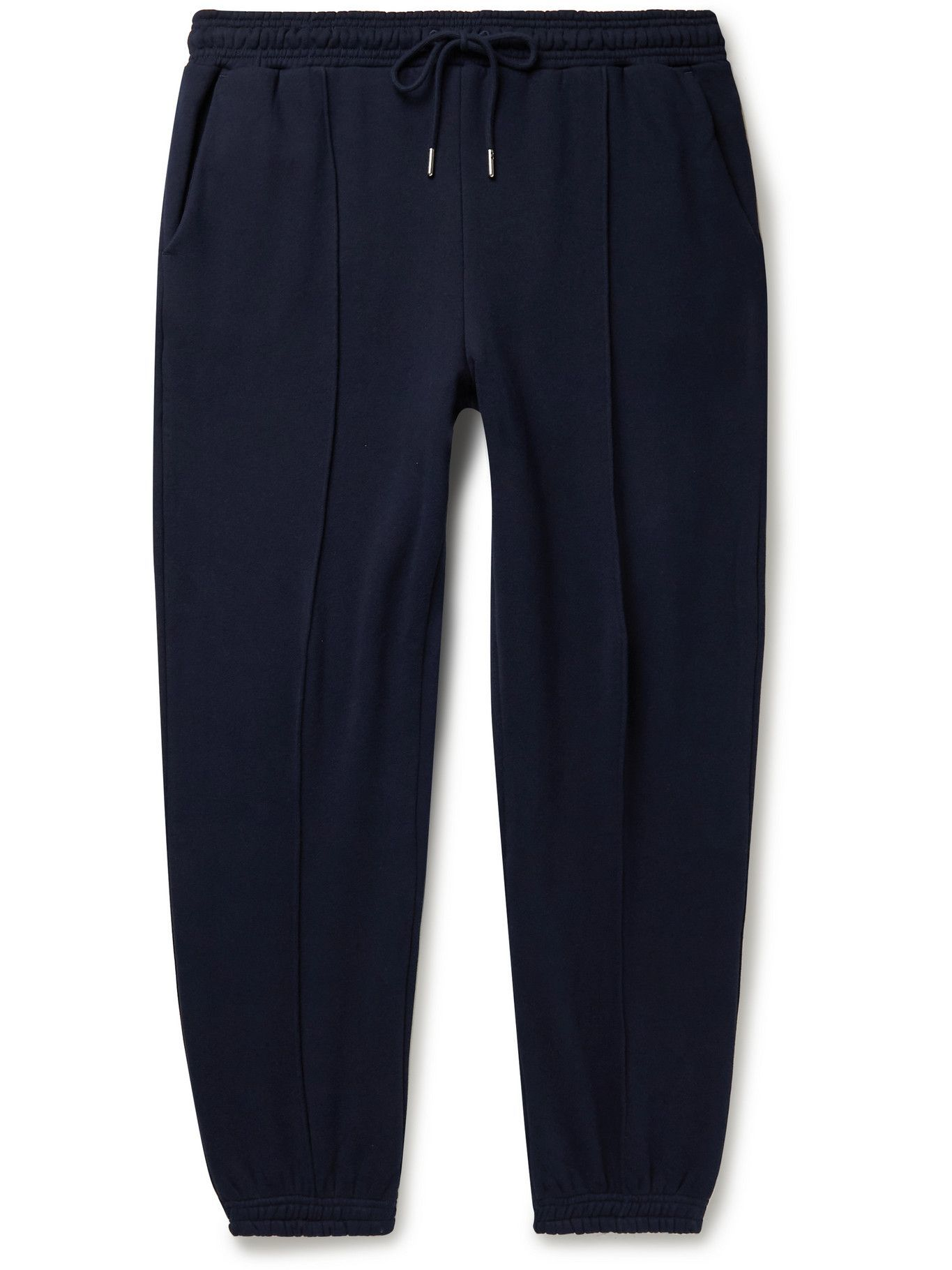 Photo: Ninety Percent - Tapered Organic Cotton-Jersey Sweatpants - Blue