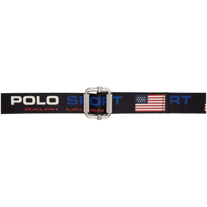 Photo: Polo Ralph Lauren Navy Webbing Polo Sport Belt