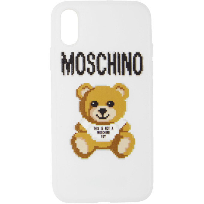 Photo: Moschino White The Sims Edition Teddy iPhone XS/X Case