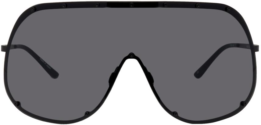 Photo: Rick Owens Black Shield Sunglasses