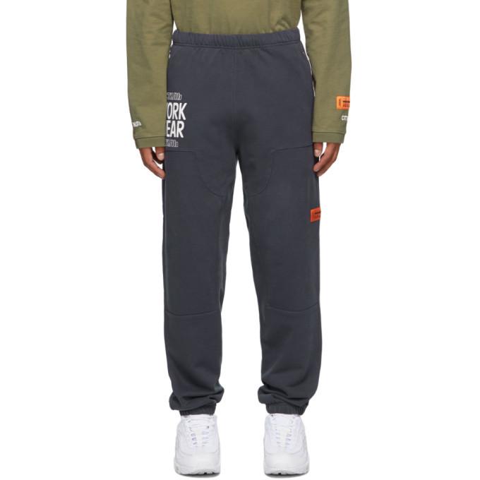 Photo: Heron Preston Navy Workwear Worldwide Lounge Pants