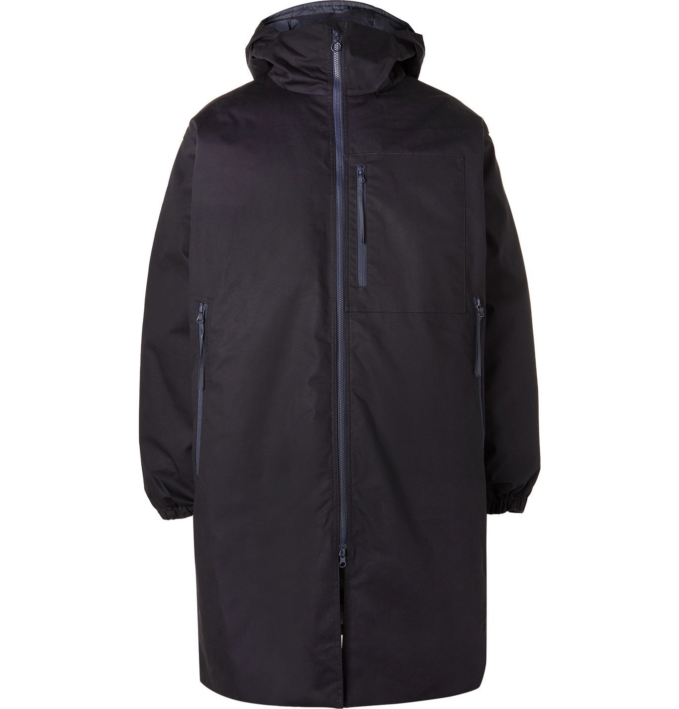 Photo: nanamica - Padded Cotton-Poplin Hooded Down Parka - Blue