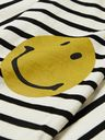 KAPITAL - Printed Striped Cotton-Jersey T-Shirt - Black