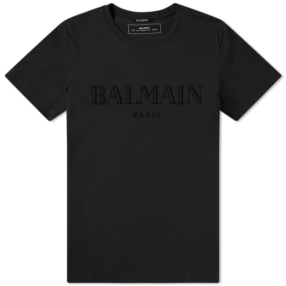 Photo: Balmain Tonal Logo Tee