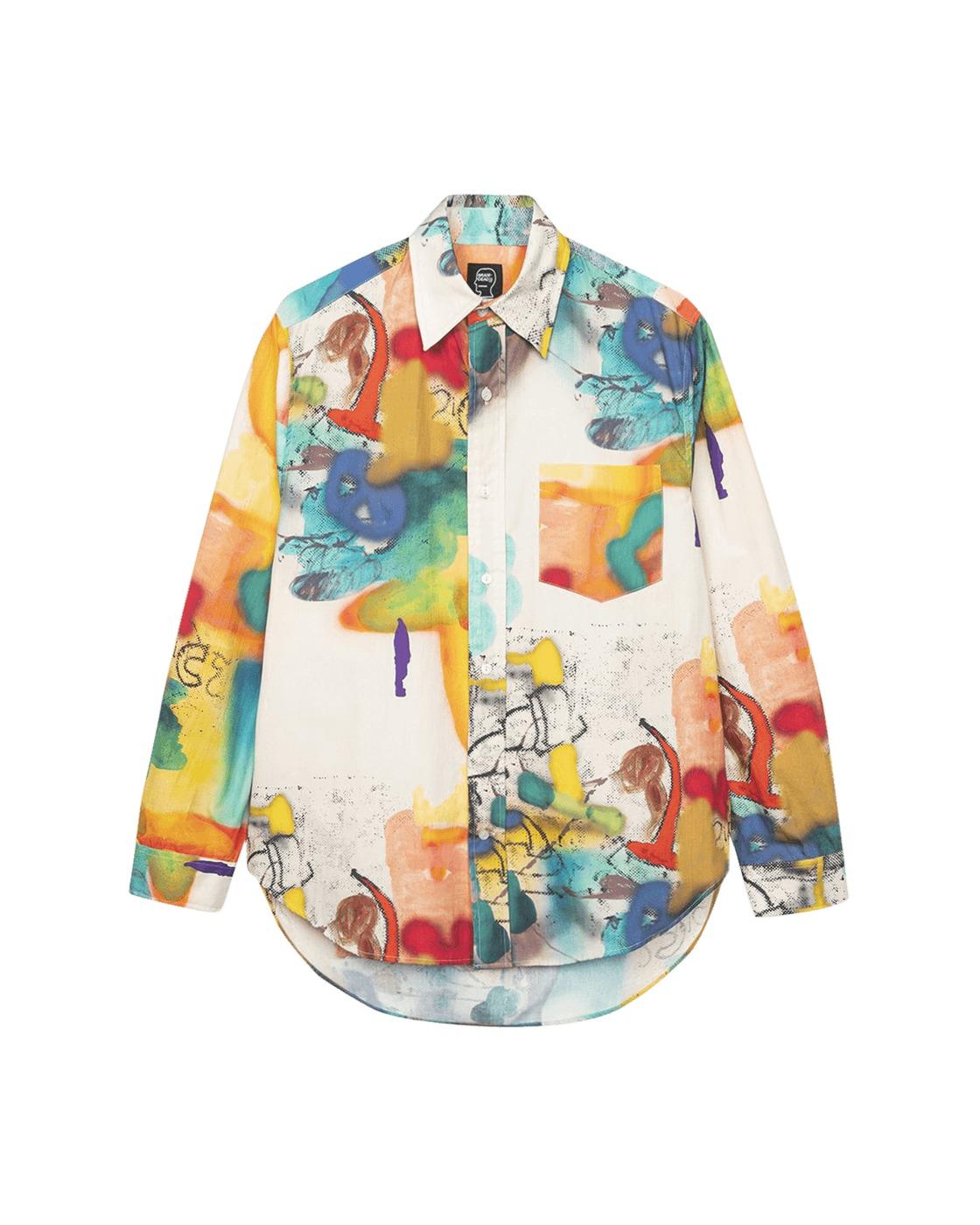 Photo: Brain Dead Horfee Poplin Button Up Shirt Multi