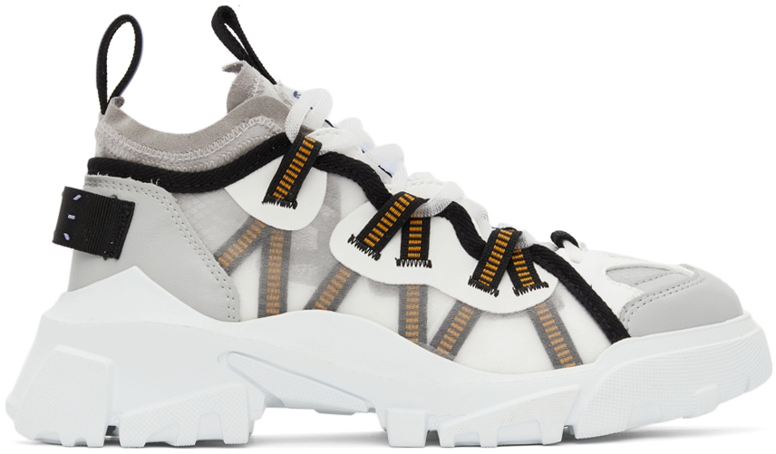 Photo: MCQ White & Grey Orbyt Descender Sneakers