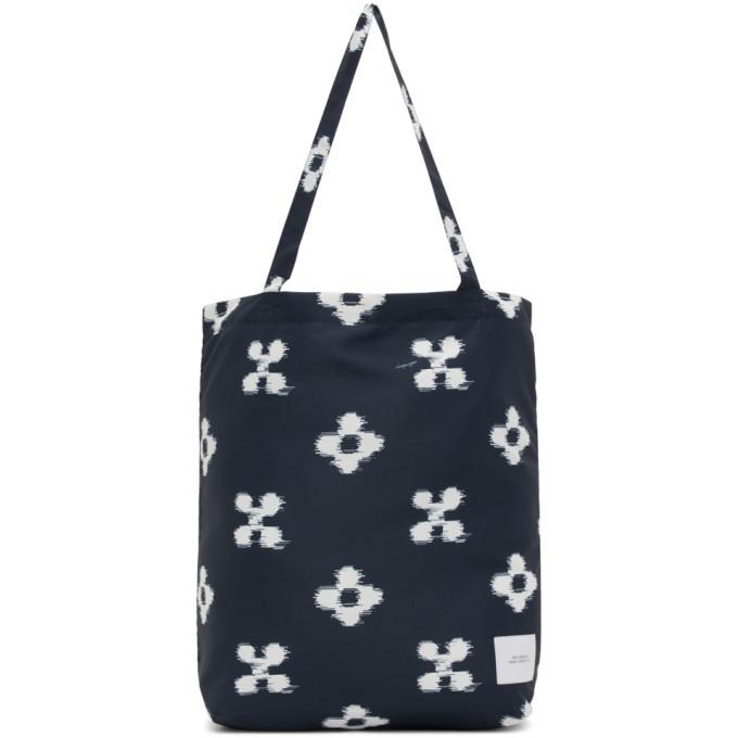 Photo: Saturdays NYC Navy Ikat Floral Tote Bag