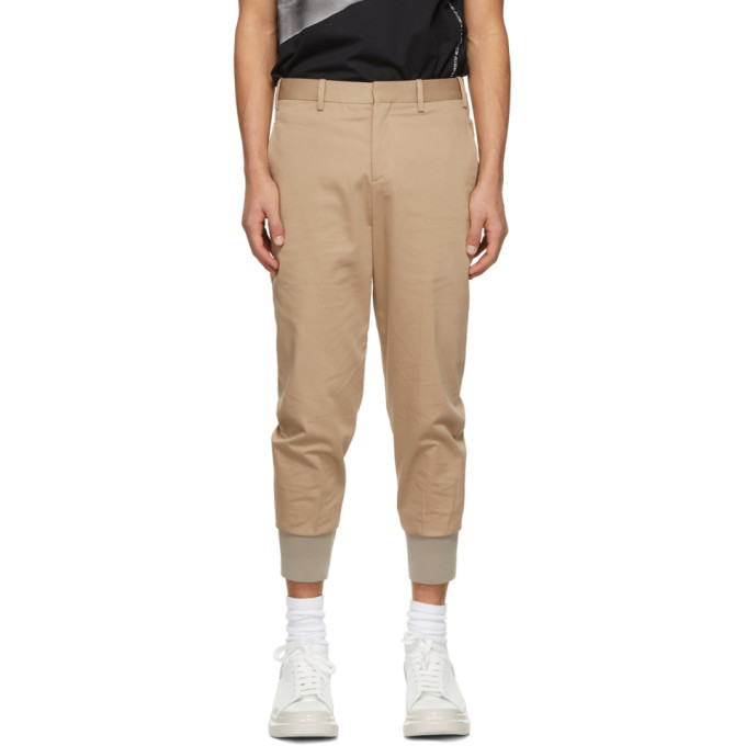Photo: Neil Barrett Brown Travel Slim Low Rise Trousers