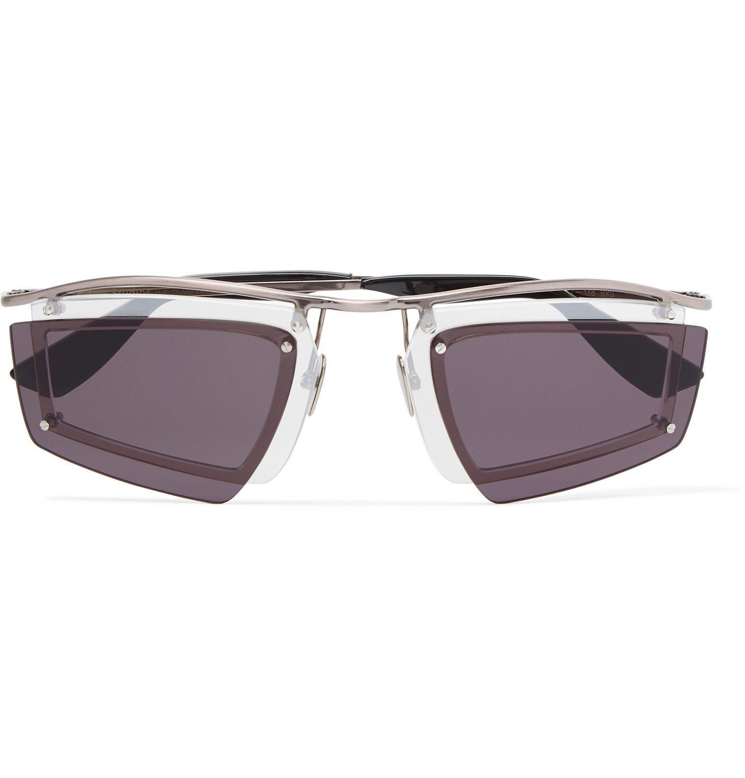 Photo: Acne Studios - Antoine Layered Aviator-Style Silver-Tone Sunglasses - Silver