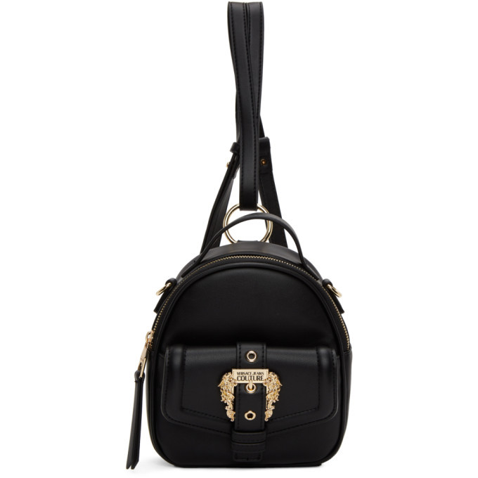 Photo: Versace Jeans Couture Black Faux-Leather Backpack