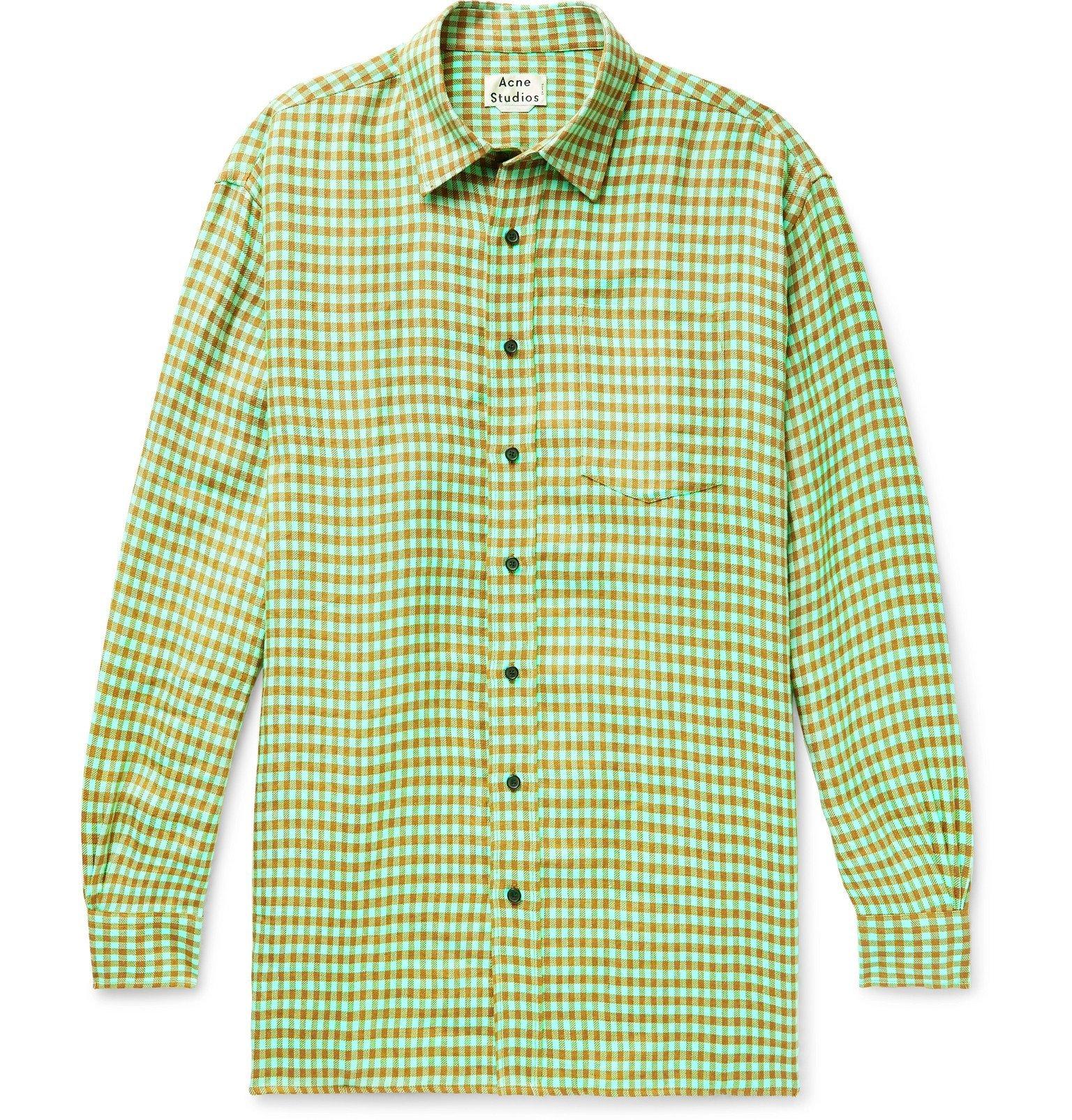 Photo: Acne Studios - Atlent Oversized Gingham Linen Shirt - Green