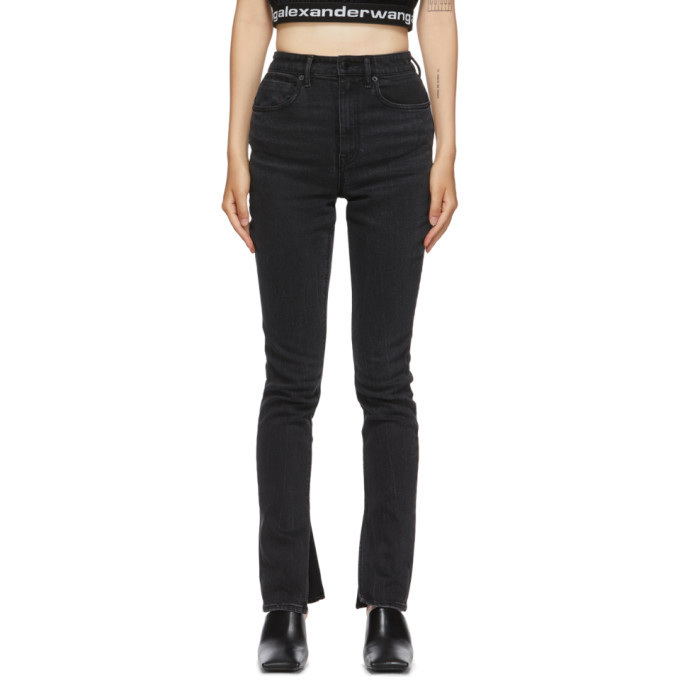 Photo: Alexander Wang Black Stovepipe Jeans