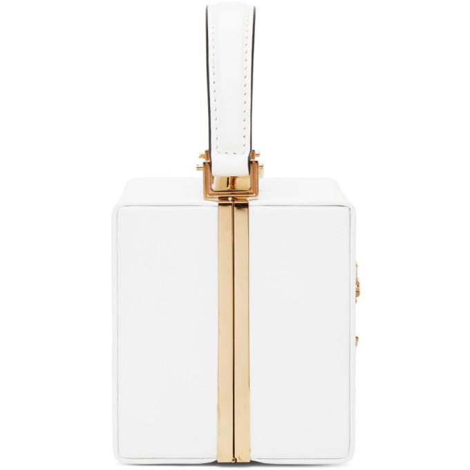 Versace White Vitrus Mini Top Handle Bag