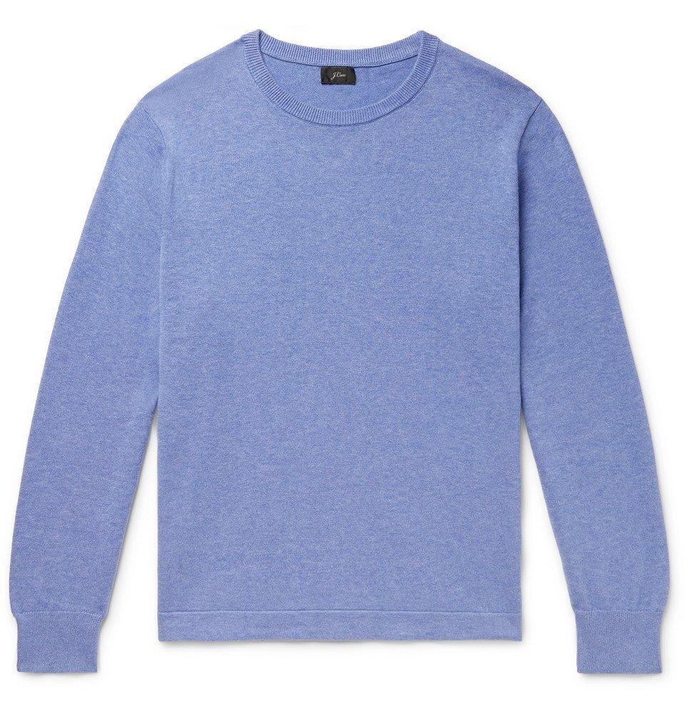 Photo: J.Crew - Mélange Cotton Sweater - Blue