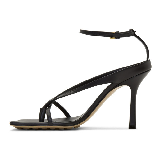 Bottega Veneta Black Stretch Sandals
