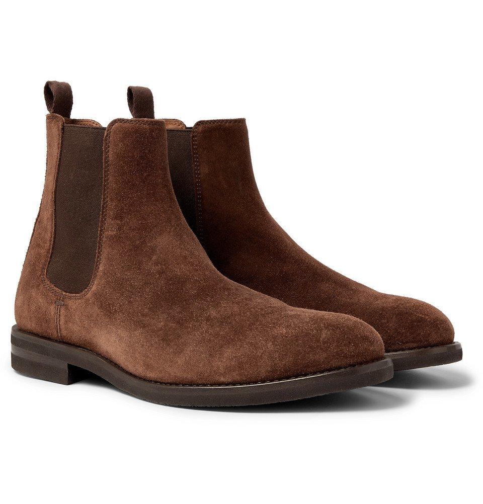 Photo: Brunello Cucinelli - Suede Chelsea Boots - Brown
