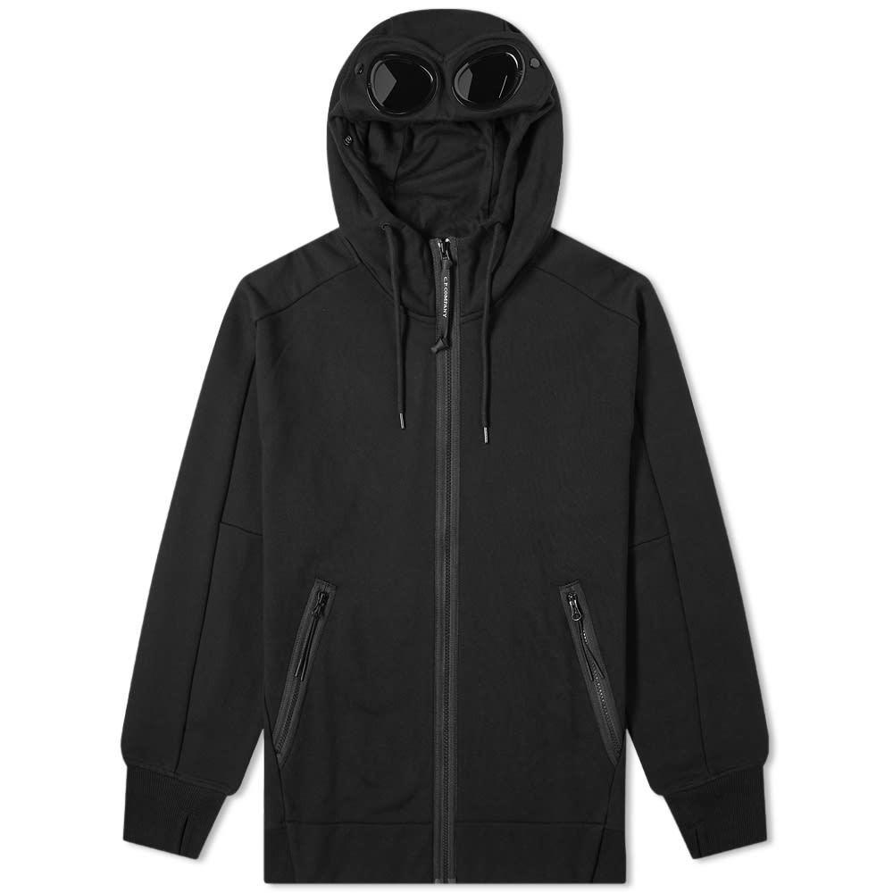 C.P. Company Diagonal Raised Fleece Zip Goggle Hoody