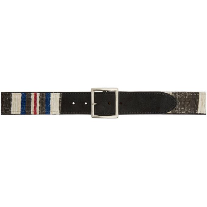 Photo: Visvim Black and Multicolor Tape Belt