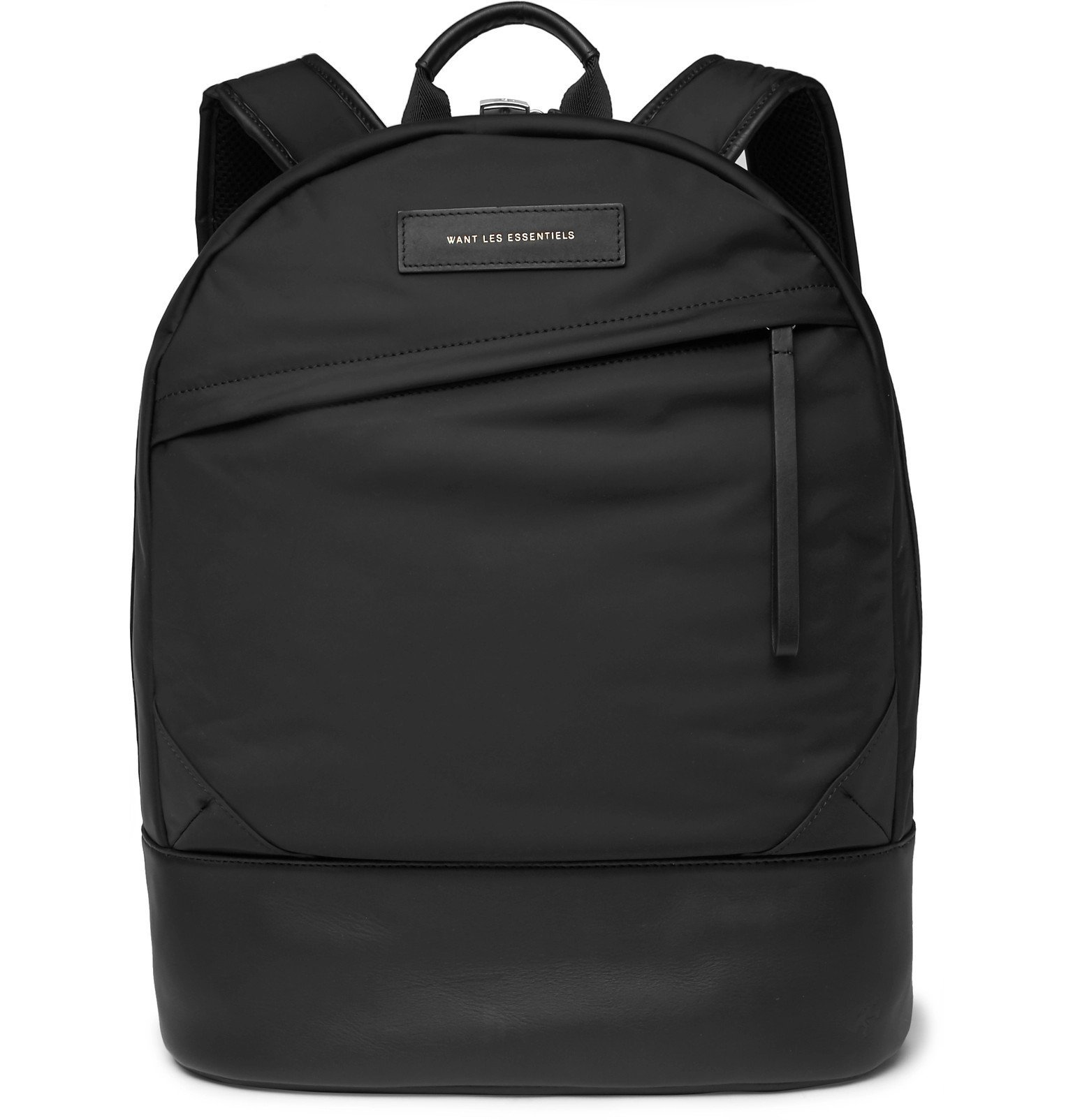 Photo: WANT LES ESSENTIELS - Kastrup Leather-Trimmed Shell Backpack - Black