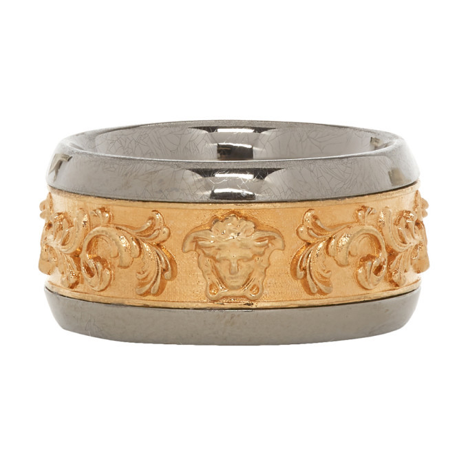 Photo: Versace Gold and Silver Brocade Ring
