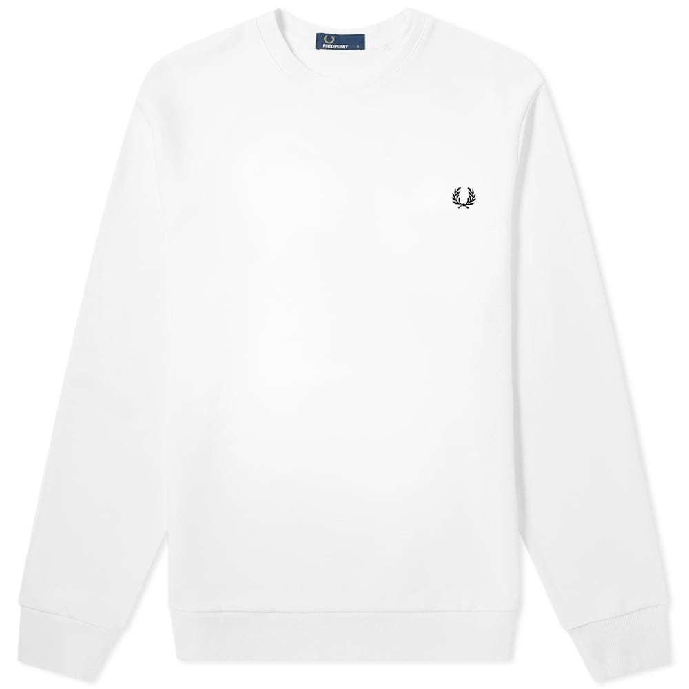 Photo: Fred Perry Authentic Reverse Wreath Applique Sweat White